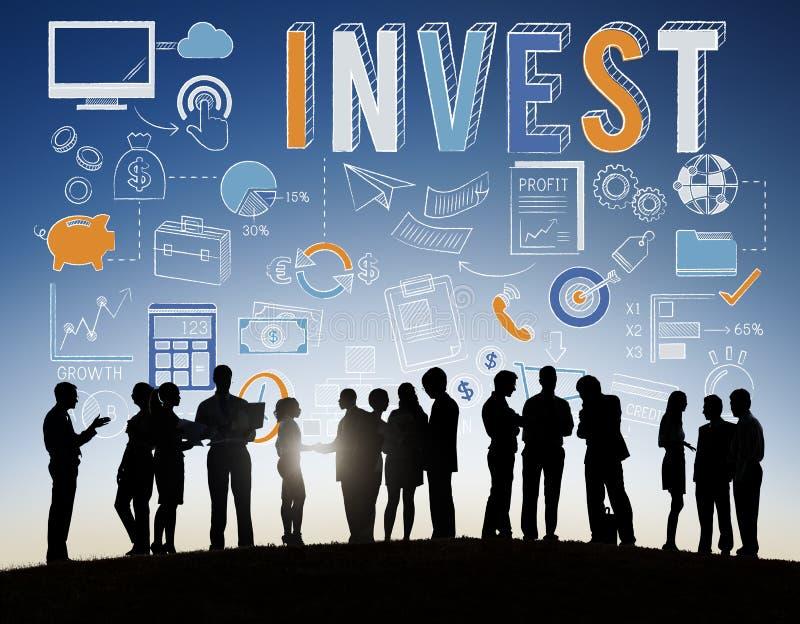 Inwestuje inwestyci bankowości wartości dochodu Finansowego pojęcie zdjęcie stock