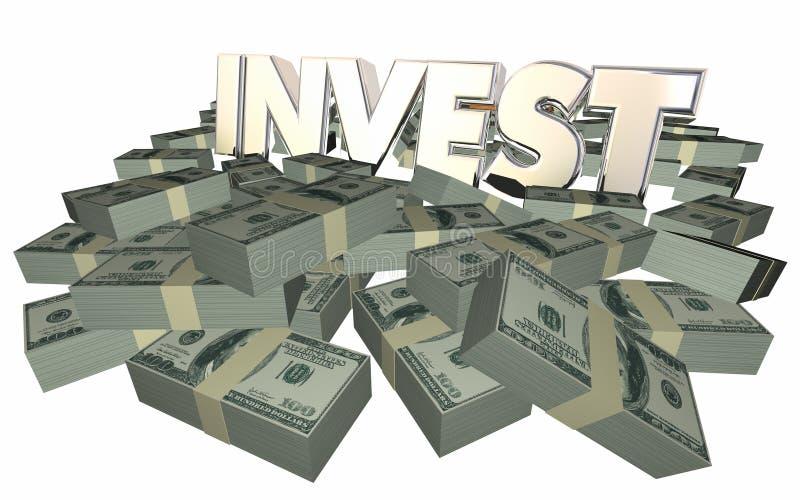 Inwestuje R bogactwo pieniądze dochodu przychody Dostaje bogactwo royalty ilustracja