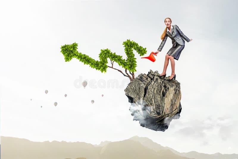 Inwestuje wzrastać twój dochody Mieszani środki Mieszani środki obraz royalty free
