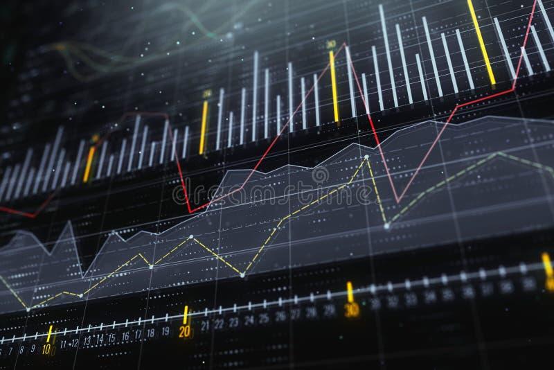 Inwestyci, handlu i monitoru pojęcie, ilustracja wektor