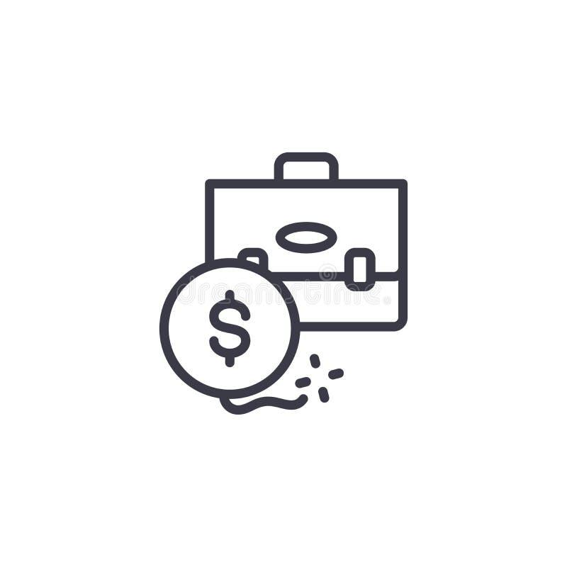 Inwestyci ROI ikony liniowy pojęcie Inwestyci ROI linii wektoru znak, symbol, ilustracja royalty ilustracja