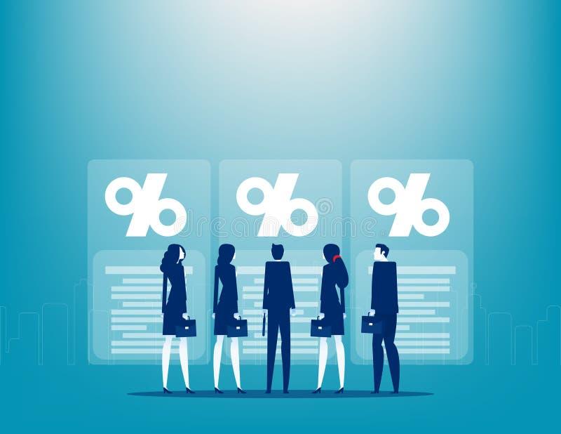 Inwestycje w plany biznesowe Strategia biznesowa i inwestor Wybór ilustracja wektor