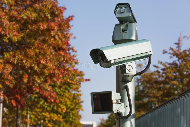 Inwigilaci kamera z ruchu czujnikiem obraz stock