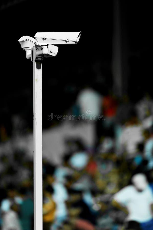 Inwigilacj kamery na stadium obraz stock