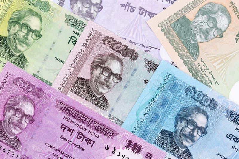 Inwoner van Bangladesh geld, een achtergrond royalty-vrije stock afbeelding