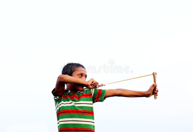 Inwoner van Bangladesh jonge vogeljager stock foto