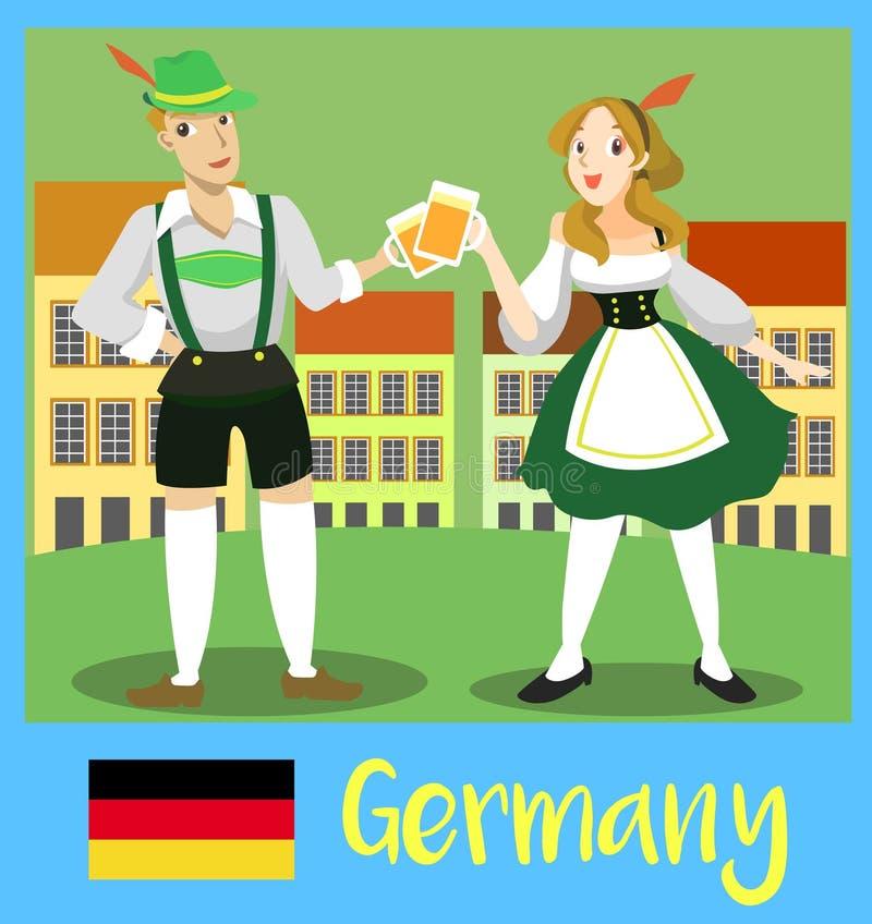 Inwoners van Duitsland royalty-vrije illustratie
