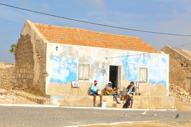 Inwoners van Kaapverdië, Afrika stock afbeelding