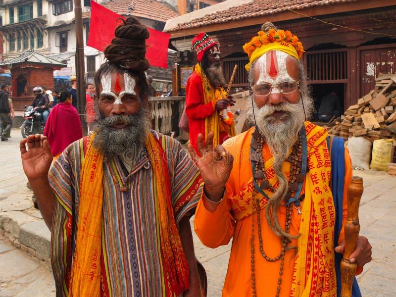 Inwoners van Nepal stock fotografie