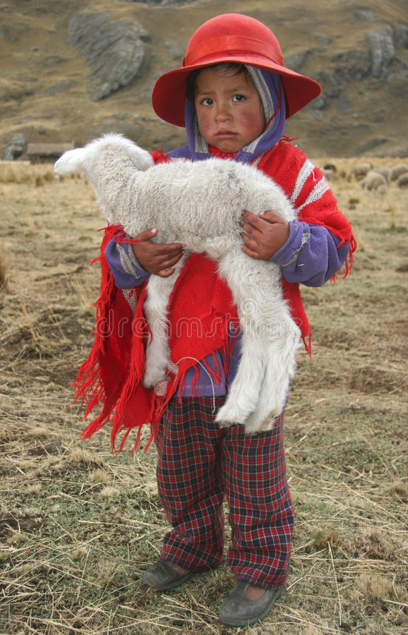 Inwoners van Peru royalty-vrije stock foto's