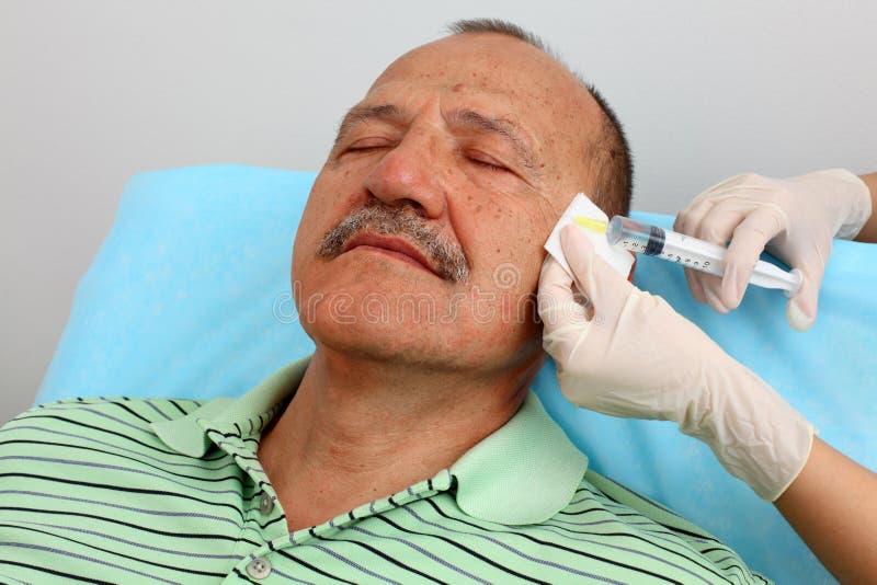 Inyección de Botox fotos de archivo libres de regalías