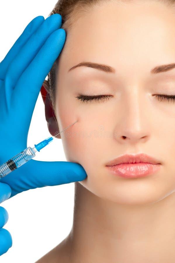 Inyección de Botox fotografía de archivo libre de regalías