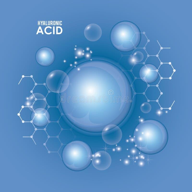 Inyección del llenador del ácido hialurónico infographic libre illustration