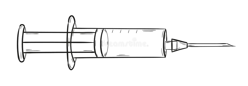 Inyección vacía stock de ilustración