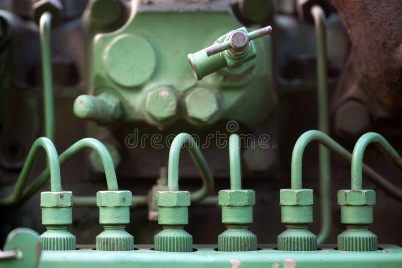 Inyectores de carburante en la máquina de la vendimia fotografía de archivo libre de regalías
