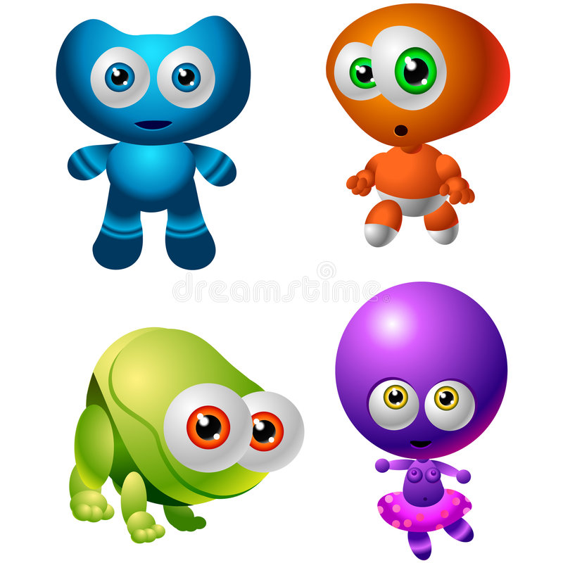 Inzameling 014 van het Ontwerp van het karakter: De Vreemdelingen van de baby vector illustratie