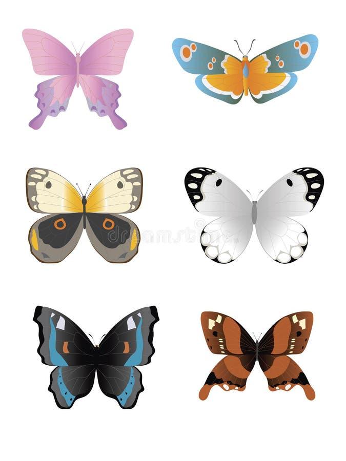 Inzameling 2 van de vlinder royalty-vrije illustratie