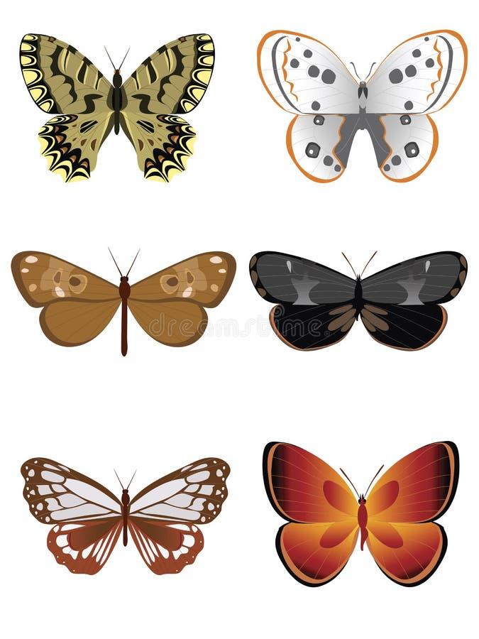Inzameling 3 van de vlinder royalty-vrije illustratie