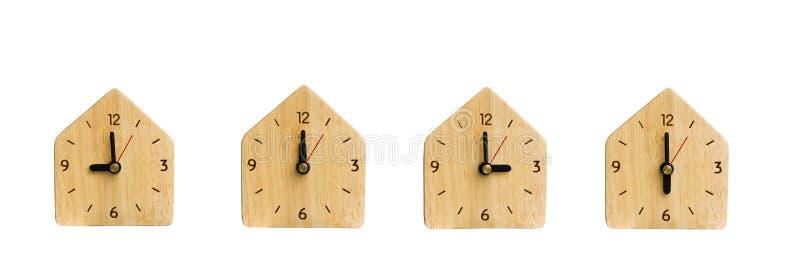 Inzameling de klok zonder Geïsoleerde aantallen stock afbeeldingen