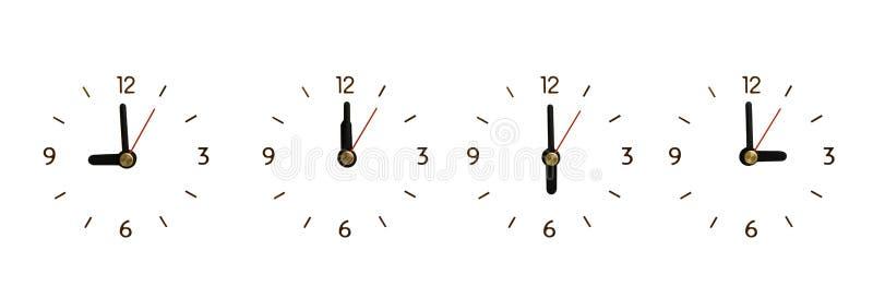 Inzameling de klok zonder Geïsoleerde aantallen royalty-vrije stock afbeeldingen