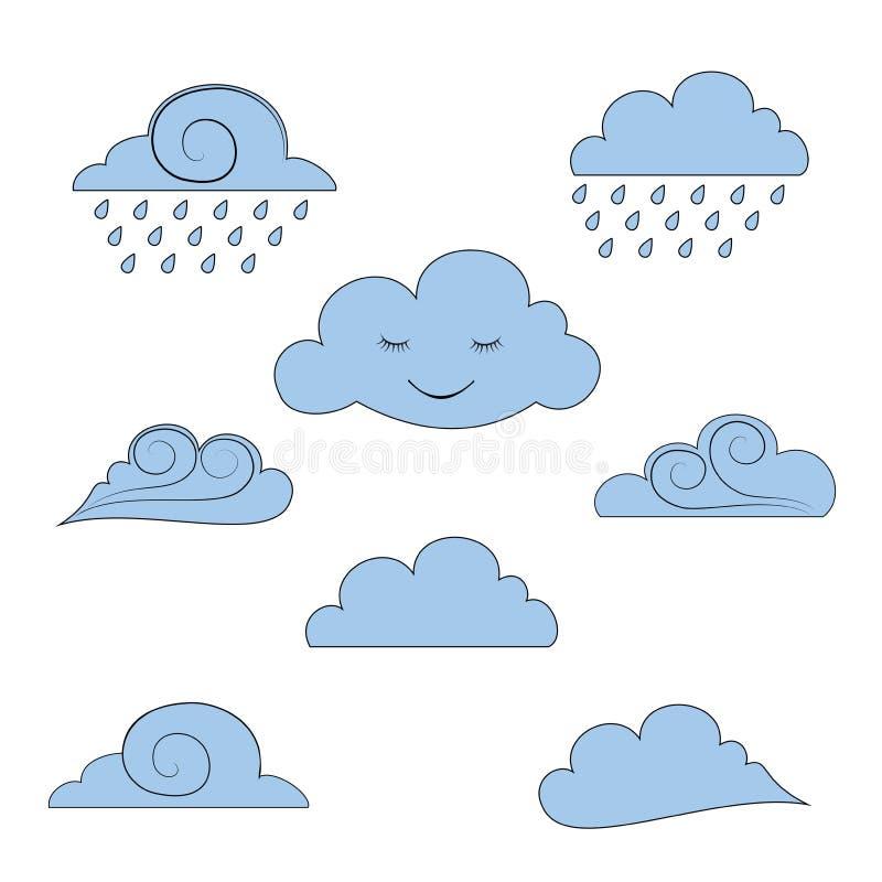 Inzameling, reeks vectorwolken, deel 1 royalty-vrije illustratie