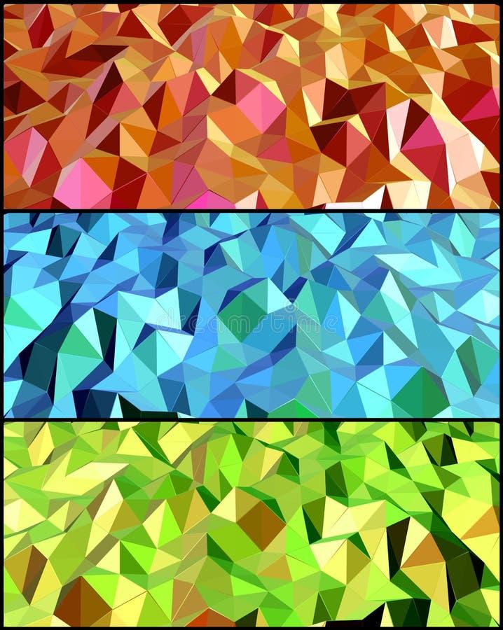 Inzameling van Abstracte achtergronden. Vector royalty-vrije illustratie