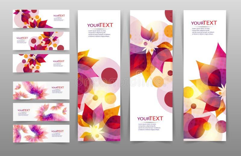 Inzameling van abstracte vector stock illustratie