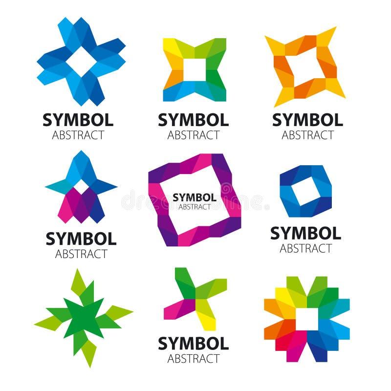 Inzameling van abstracte vectoremblemen van de modules stock illustratie