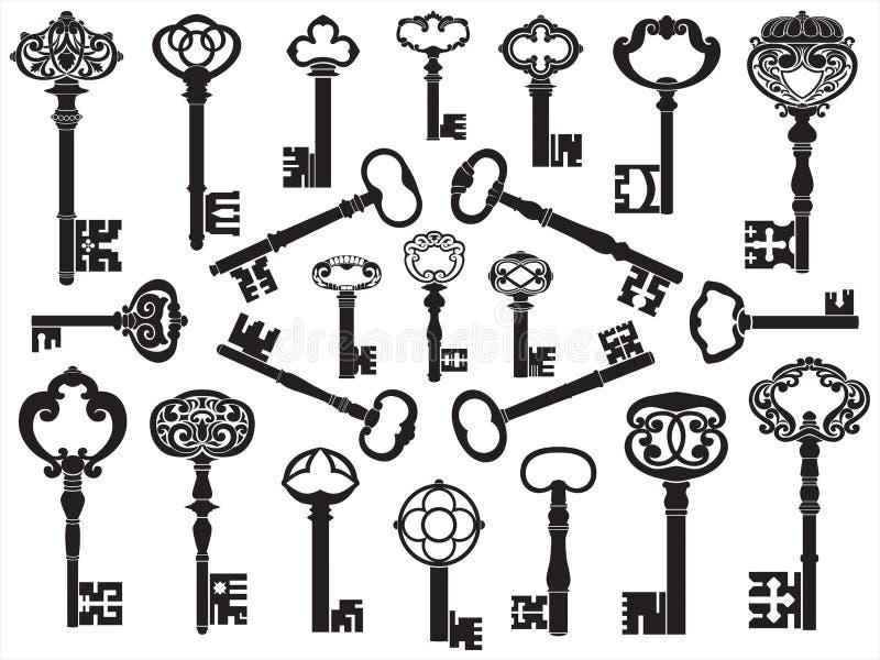 Inzameling van antieke sleutels