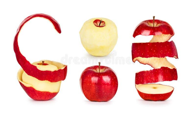 Inzameling van appelen met schil stock fotografie