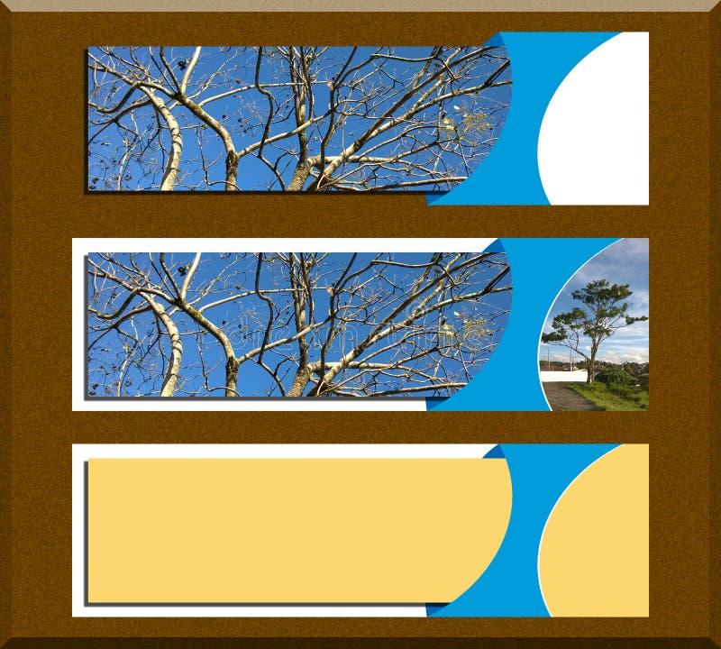 Inzameling van banners voor beeldredacteurs Voor Web stock illustratie