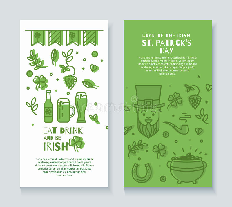 Inzameling van banners voor St Patrick Dag royalty-vrije illustratie