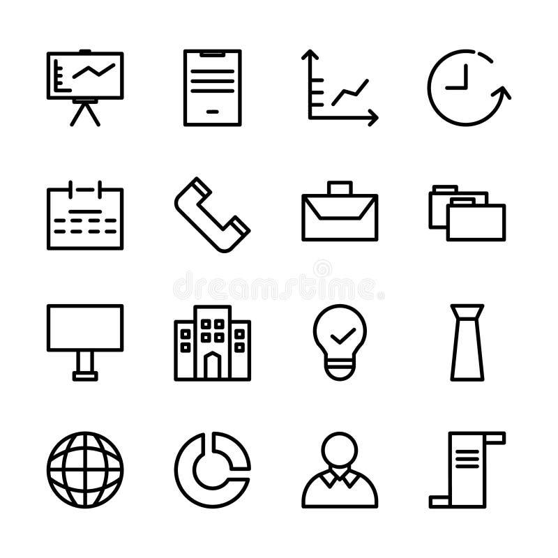 Inzameling van bedrijfspictogramreeks geschikt om op de markt te brengen, financiën, en andere verwante zaken vector illustratie