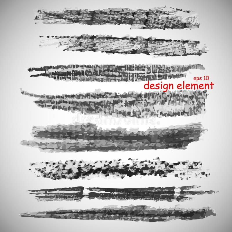 Inzameling van borstels van steenkool vector illustratie