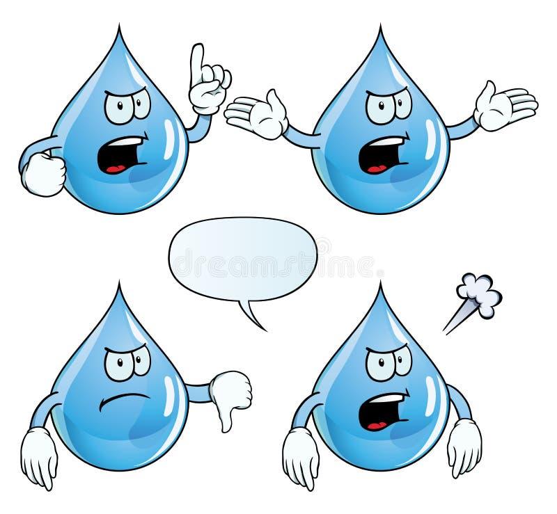 De boze reeks van de waterdaling stock illustratie