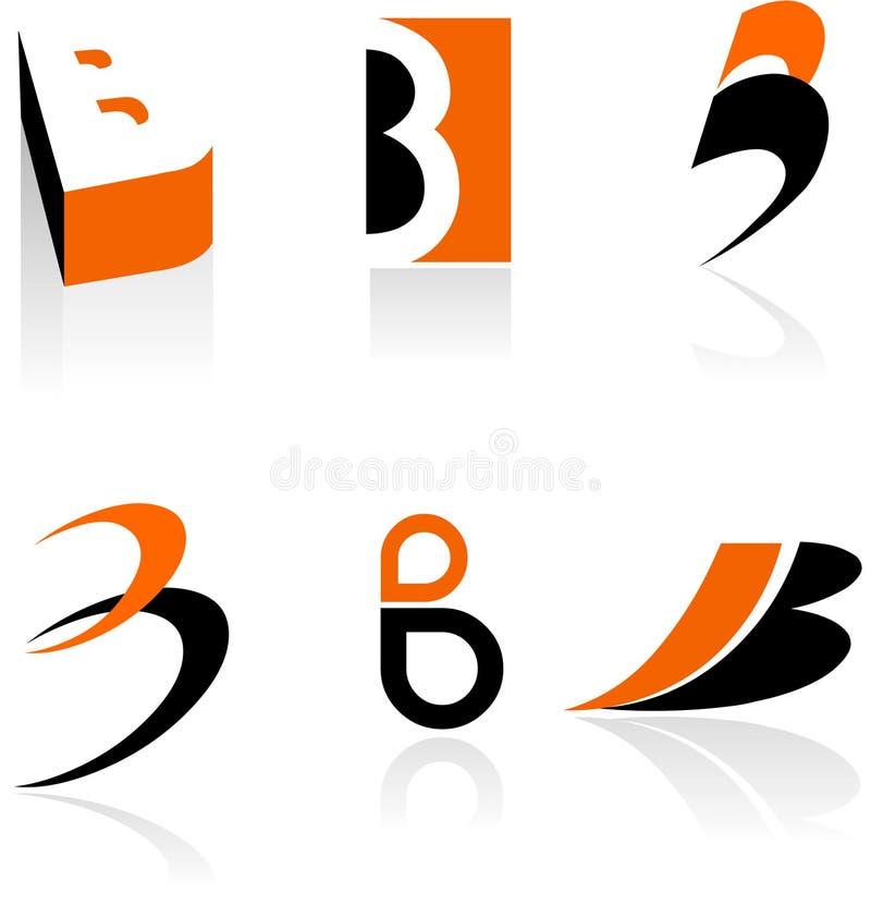 Inzameling van brievenB pictogrammen stock illustratie