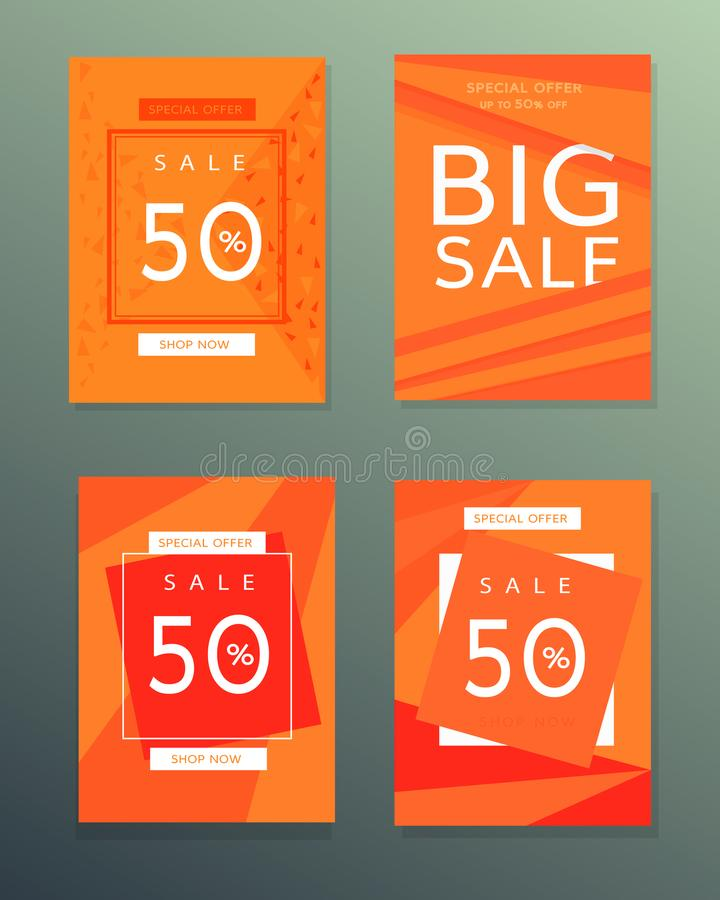 Inzameling van de banners van de verkoopherfst royalty-vrije stock afbeeldingen