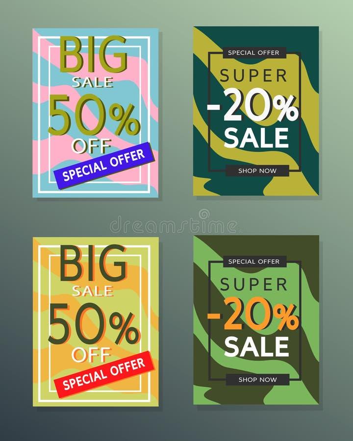 Inzameling van de banners van de verkoopherfst royalty-vrije stock foto