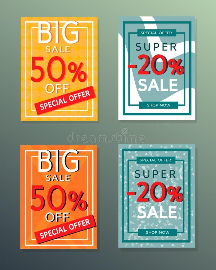 Inzameling van de banners van de verkoopherfst stock foto's