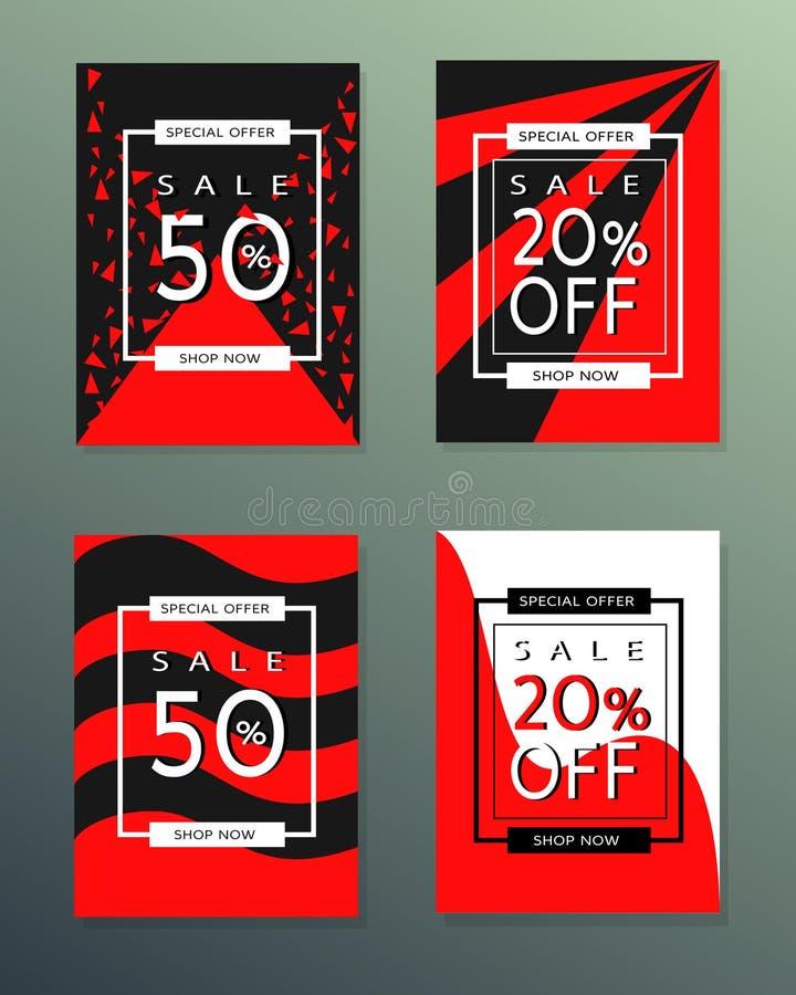 Inzameling van de banners van de verkoopherfst royalty-vrije stock foto's