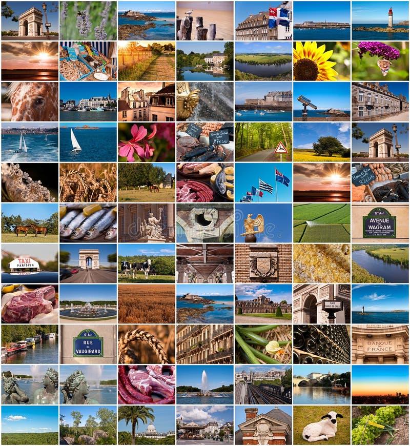 Inzameling van de beelden van Frankrijk royalty-vrije stock afbeeldingen