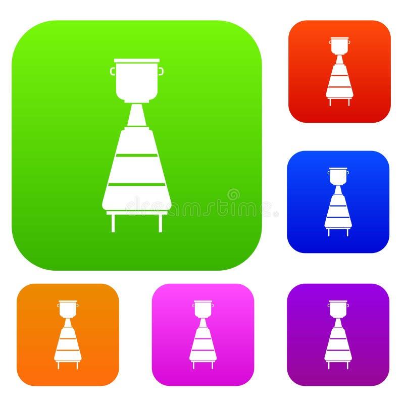 Inzameling van de het materiaal de vastgestelde kleur van de wijndistilleerderij vector illustratie