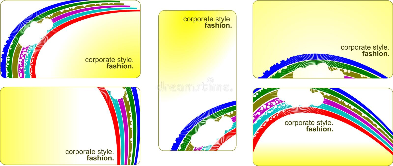 Inzameling van de malplaatjes van het identiteitsadreskaartje vector illustratie