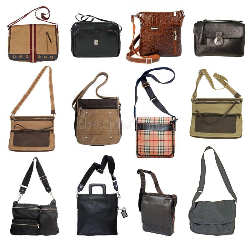 Inzameling van de zakken van mensen stock foto