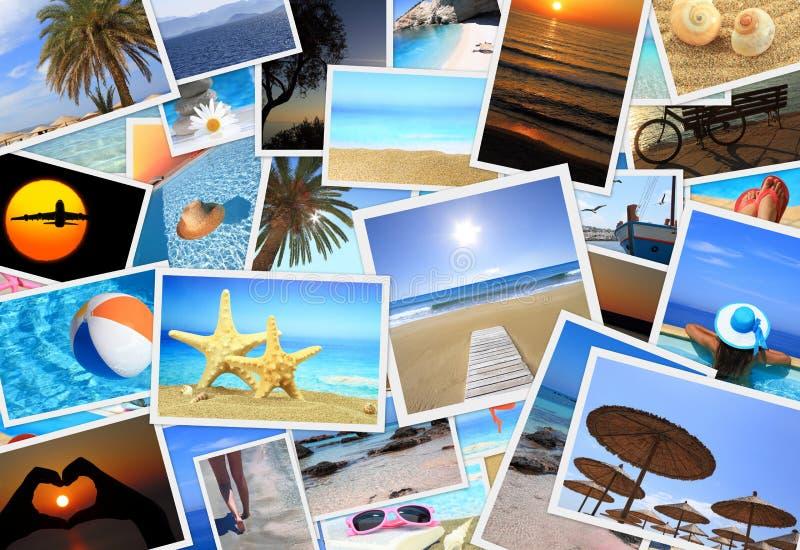 Inzameling van de zomerfoto's royalty-vrije stock afbeeldingen