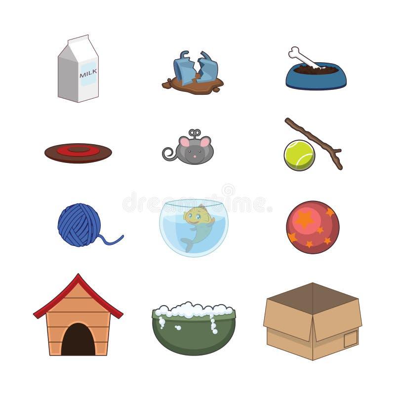 Inzameling van dierlijke toebehoren vector illustratie