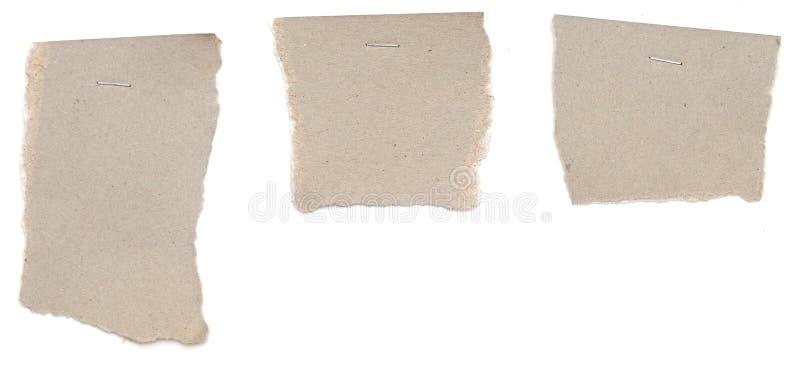 Inzameling van diverse notadocumenten stock afbeeldingen