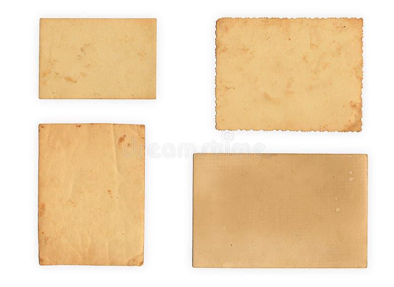 Inzameling van diverse oude foto's op witte achtergrond royalty-vrije stock foto's