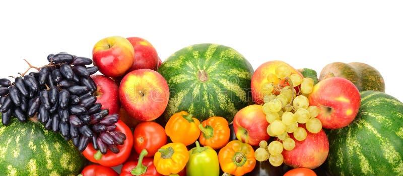 Inzameling van fruit en Groenten stock afbeeldingen