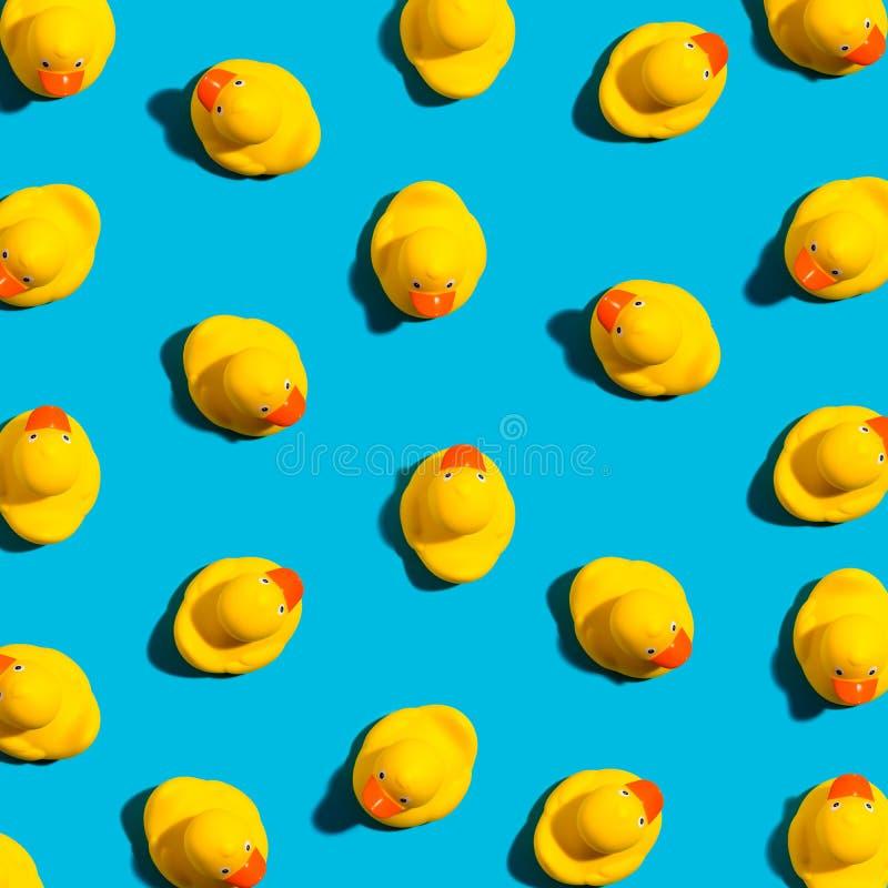 Inzameling van gele rubbereenden royalty-vrije stock afbeeldingen